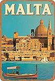 Tofee Malta Eisen Poster Vintage Malerei Blechschild für