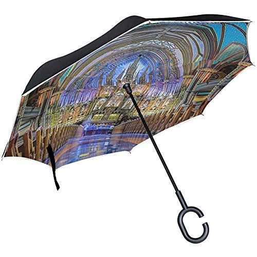 Mike-Shop Umgekehrter Regenschirm, Notre Dame De Paris umgekehrte Golfschirme