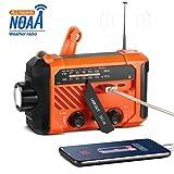 Solar Radio, Thorfire Hand Crank Emergency Radio Survival Radio w/SOS Alarm 120Lm LED