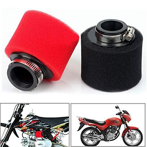 Schwammluftfilter für Motorroller Motocross ATV, Rundreiniger Universalgewinde, 35 mm / 38 mm / 40 mm / 42 mm / 45 mm / 48 mm