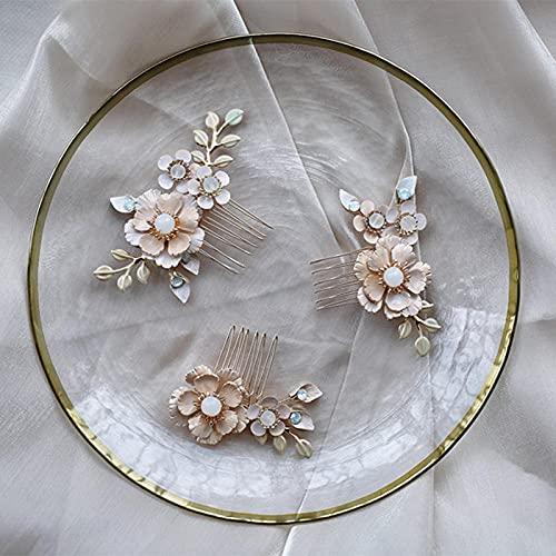 Peineta para el pelo de novia, con flores pintadas a mano, pequeñas...