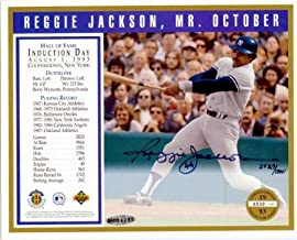 Reggie Jackson Autographed Photo - 8x10 Hall of Fame Induction Upper Deck Certified #BAD94385 - Autographed MLB Photos