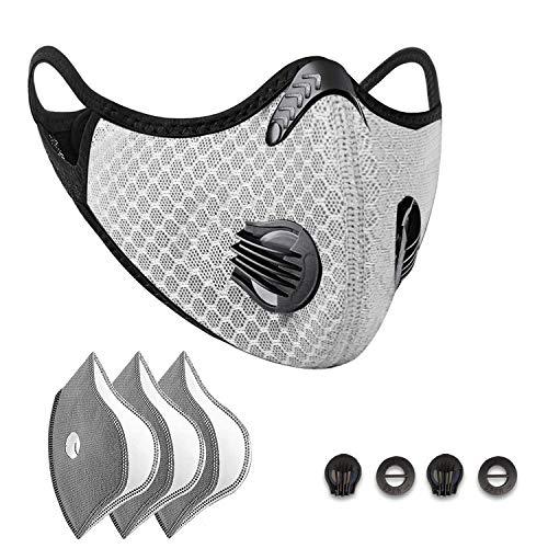 Movimiento M Antipolvo, con 4 filtros de carbón Activo y 4válvulas. Deportes a Prueba de Polvo M, utilizados para Actividades al Aire Libre Que agotan el Humo de Conducir y Correr en Motocicleta (a)
