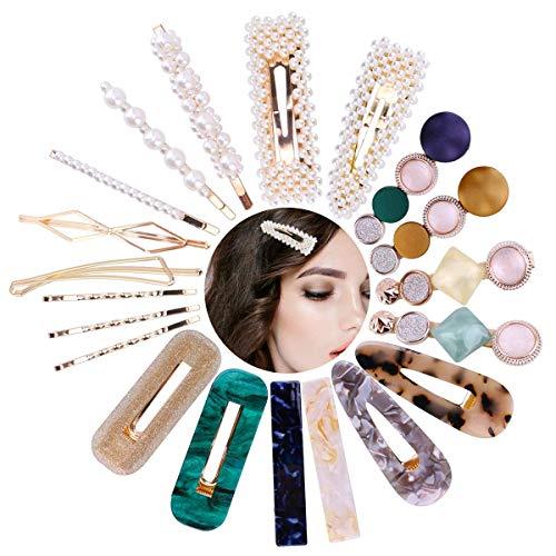 BETOY Perle Haarspange,20pcs Dekor Haarspangen,Haarspangen für Damen,für Hochzeit undValentinstag Geschenke,Mode Haarspangen Perle Haarnadeln Damen Mädchen Party...
