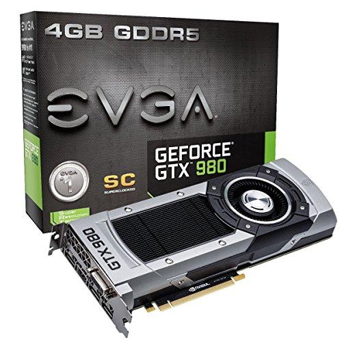 EVGA 04G-P4-2982-KR NVIDIA GTX980 SC W/BP 3,2S Grafikkarte (PCI-e 4096, 4GB GDDR5, VGA, DVI, HDMI, DisplayPort, 1 GPU)