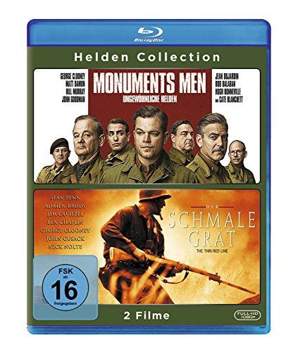 Helden Collection: Monuments Men/Der schmale Grat [Blu-ray]
