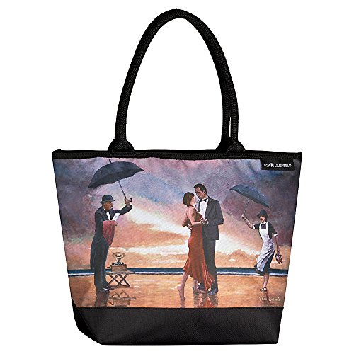 VON LILIENFELD Tasche Damen Henkeltasche Gross Shopper Bedruckt Motiv Kunst Theo Michael: Hommage to The Singing Butler