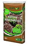 Euflor Kieferindenmulch 60 L Sack, dauerhaftes Abdeckmaterial für Flächen in Gärten und auf Wegen, aus naturbelassener Kiefernrinde (10-20mm)