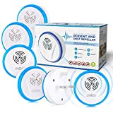 Ultrasonic Pest Repeller 6 Packs, Electric Mosquito Repellent Plug in Mouse Repeller, Safe Ultrasonic Pest Control Spider Rat Repellent, Indoors Pest Repel for Ant, Cockroach, Bed bug, Other Rodents