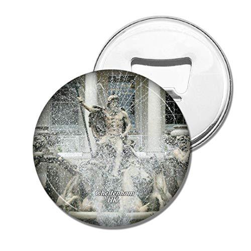 Weekino BRITISCHER Neptun-Brunnen Cheltenham Englands Bier Flaschenöffner Kühlschrank Magnet Metall Souvenir Reise Gift