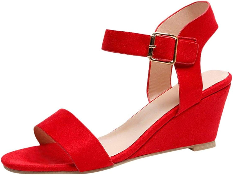 T-JULY Women Sandals Wedges Summer Casual shoes Buckle Strap Roman Gladiator Sandals Women Sandal