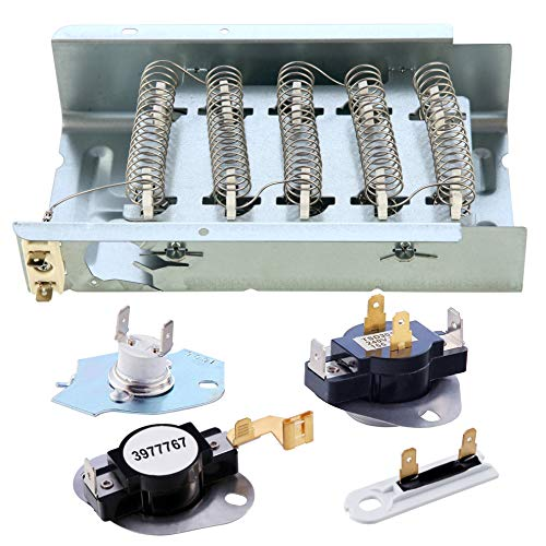 Price comparison product image 279838 Dryer Heating Element 3977767 3392519 Dryer Heating Element Kit 3977393 Thermal Fuse & 3387134 Dryer Thermostat Compatible whirlpool kenmore roper maytag estate Inglis crosley amana kitchenaid