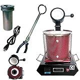2kg Digital Automatic Melting Furnace Machine, 2102℉ 1600W Gold Silver Copper...