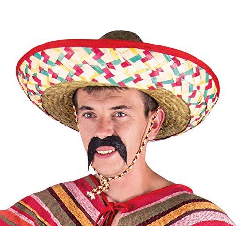 P'tit Clown 95417 Chapeau Paille Sombrero Adulte - Multicolore