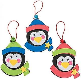 Christmas Penguin Ornament Foam Craft Kit (Makes 12)
