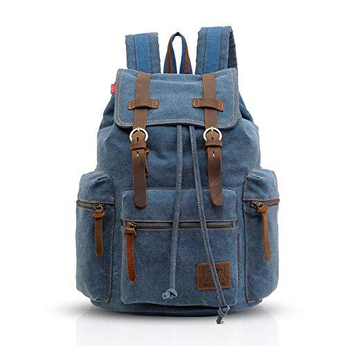 FANDARE zaino trekking viaggio borsa del portatile zaino di scuola zaino da montagna multifunzionale vintage borsa di tela attività Outdoor Climbing
