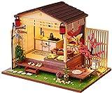 Dynamicoz Modelo de Estilo japonés Cherry Blossom Hut Modelo Kit de casa de muñecas DIY ensamblado Flores de Cerezo casa Regalo de cumpleaños San Valentín