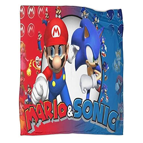 DRAGON VINES Manta de juego Super Mario Bros Mario Sonic The Erizo Mantas para niños y mujeres 180 x 230 cm
