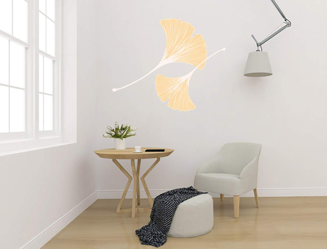 Ginkgo OFFer Biloba Leaf Plant Aesthetic Room Wall Sticker Vinyl M Sales of SALE items from new works Car