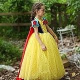 Avsvcb Cosplay Traje de Navidad para niños Vestido de niñas Disfraz de Regalo de Novedad de Halloween Vestido de Blancanieves