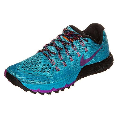 Nike para Mujer Zoom Terra Kiger 3Zapatillas Deportivas, Color Azul Laguna/Vivid Color Morado