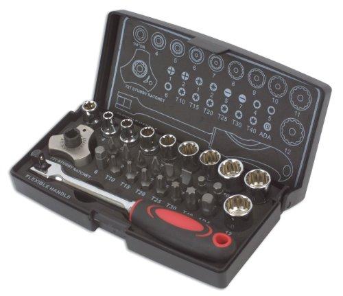 Laser 3925 Alldrive Coffret clé à Douille et clé à cliquet 28 pièces