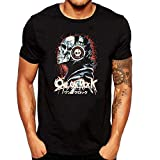 Photo de SEVENSIQI One Ok Rock Skull Homme Short Sleeve Neck Manches Courtes/T Shirt Black