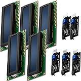 AZDelivery 5 x Modulo Pantalla LCD Display Azul HD44780 1602 con Interfaz I2C 16x2 caracte...