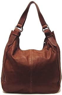 Siena Leather Hobo Shoulder Bag in Brown