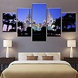 TACBZ Leinwandbilder Für Wohnzimmer Wandkunst Rahmen 5