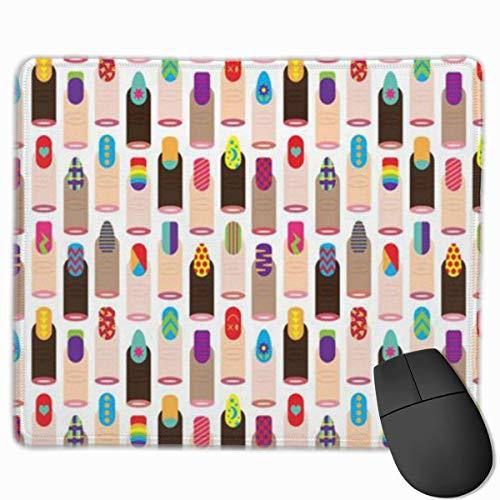 Japanische Mode Nagellack Mauspad mit rutschfester Gummibasis und wasserdichtem Mauspad mit genähten Kanten Mauspads für Computer Laptop Gaming Office & Home