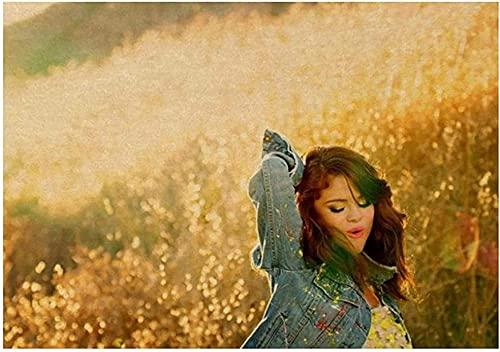 ZYYSYZSH Puzzle 1000 Piezas Selena Gomez Star Singer Posters cartón Juguetes para Adultos Juego de descompresión (38x26cm)