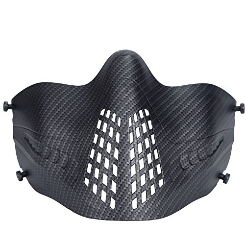 PHOENIXIKKI2WAYFASTヘルメットに装着3バンド式安定曇らない通気性良男女兼用タクティカルタクティカルギアフェイスガードサバゲー装備ブラック小紋