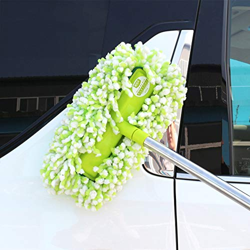 SPMDH Car Mop Adjustable Rotating Car Cleaning Mop Multi-Functional Car Wash Mop Nanofibre Dust Removal Cotton Brush Car Cleaning Brush with Long Handle Best for Washing Your Car, Truck, RV, Etc.
