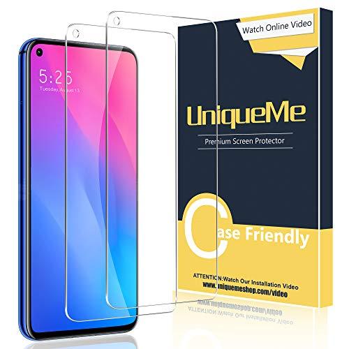 UniqueMe 2 Pack Protector de Pantalla para Huawei Nova 5T, V