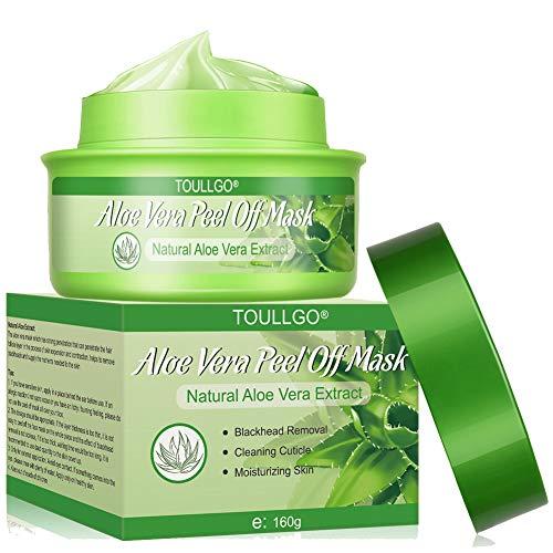Aloe Vera Face Mask, Peel-off Mask, Blackhead Remover Mask, Deep Purifying Cleansing - Acne Treatment - Oil Control - Facial Moisturizing, 160g