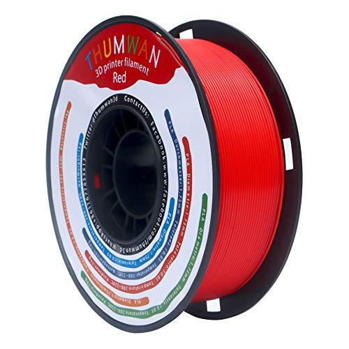 Filament PLA 1.75mm Rot, THUMWAN New Filament PLA, 3D-Drucker Filament PLA für 3D-Drucker und 3D-Stift, 1Kg 1Spool