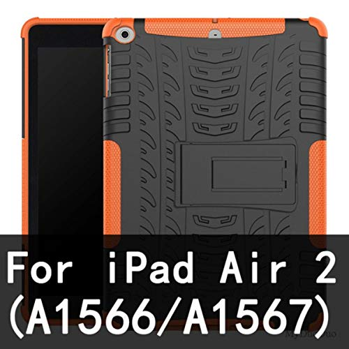 Cover for iPad Air Air 2 TPU+PC Stand Bracket Case Cover for iPad 2017 9.7' 2018 5/6th Tablet Shockproof Armor Anti-Knock Shell,Air 2 Orange