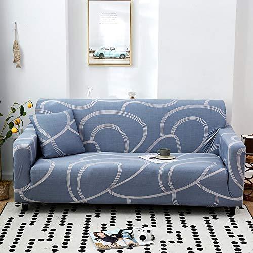 PPMP Funda de sofá elástica con patrón geométrico Fundas de sofá Todo Incluido elásticas para Sala de Estar Funda de sofá Fundas de sofá A21 1 Plaza