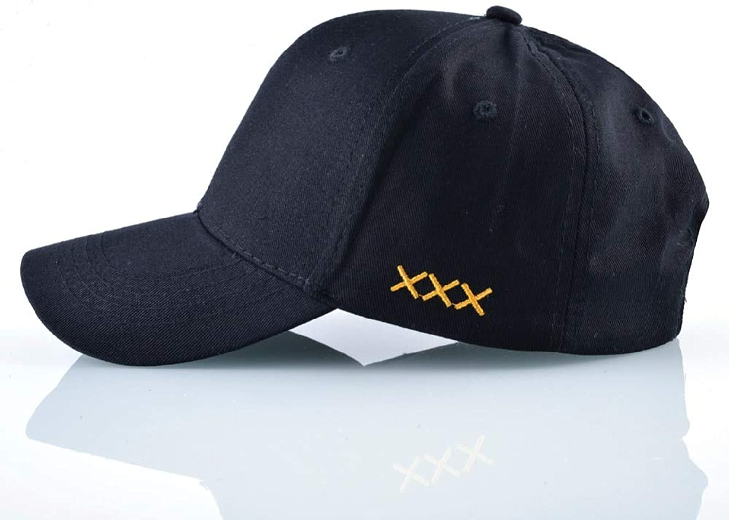 AAMOUSE Solid Cotton Dad Hats for Men and Women Baseball Cap Sample Outdoor Casual Hip Hop Black Hats