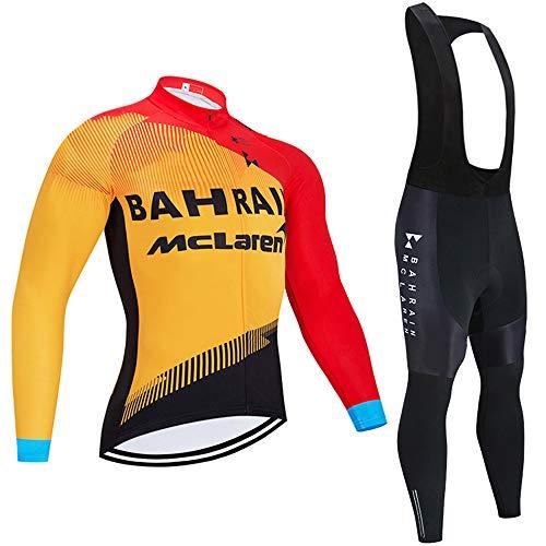 Completo Ciclismo Uomo Abbigliamento Ciclismo Primavera Set con Pantaloni Traspirante Maglia Ciclismo Uomo Manica Lunga (Molti Stili)