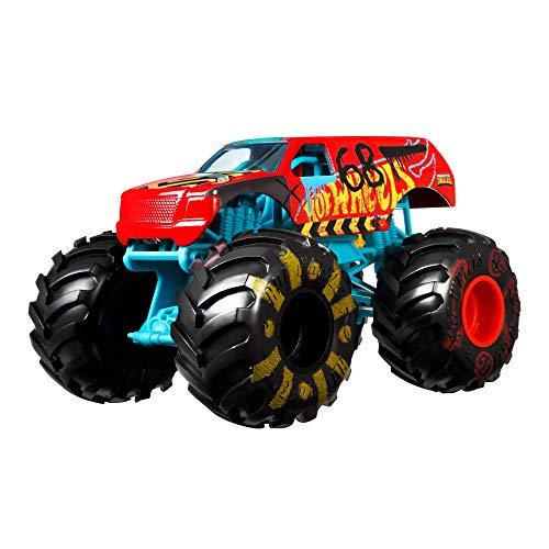 Hot Wheels Monster Trucks Demo Derby Coche de Juguete Todo Terreno, Regalo para Niños +3 Años, Azul/Rojo (Mattel GWL09)