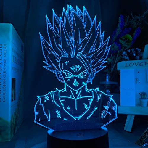 Personaje de dibujos animados lámpara de mesa 3D multicolor LED luz de noche USB dragon ball decoración multicolor salón dormitorio regalo