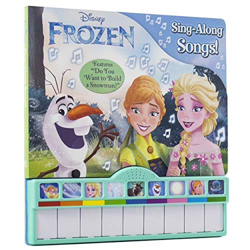 "Disney Frozen Elsa, Anna, Olaf, and More! - Sing-Along Songs! Piano Songbook with Built-In Keyboard - Features ""Do You want to Build a Snowman?"" - PI Kids"