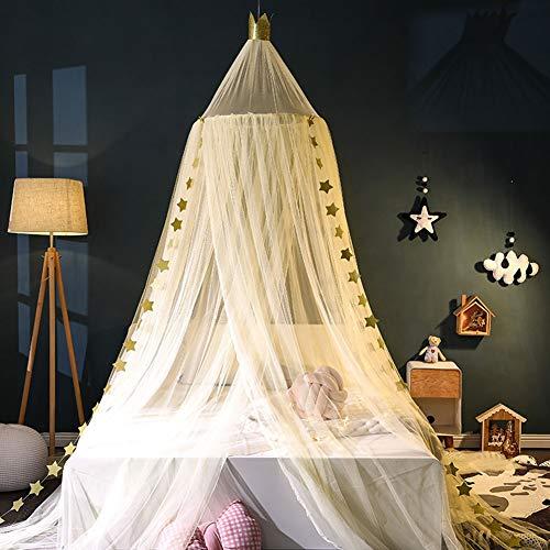 YXZN Prinzessin Bett Baldachin Für Kinderzimmer Dekor Runde Spitze Spiel Zelt Baby Haus Baldachin Garn Mädchen Kuppel Netz Vorhänge Mädchen Spiele Haus Schloss