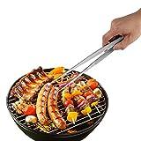 Pinze da Cucina in Acciaio Inox - 30 cm per Barbecue Grill griglia Forno - Pinzette per Alimenti utensile con Manico Lungo, Strumento per Cucinare, servire e Grigliare