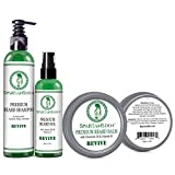 Spartans Den Beard Care Kit for Growth and Conditioning - 100% Natural with Tea Tree and Mint to Fight Dandruff and Itch, Promote Softness and Thicken Patchy Beards -'Revive'