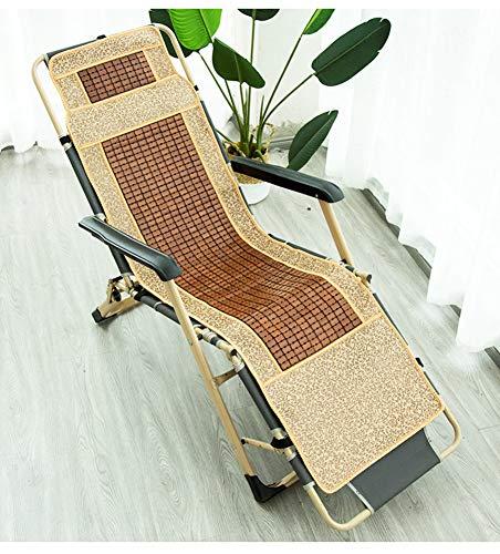 GJBHD Bamboo Rattan Recliner Chair Cushion,Summer Cool Chair Cushion Seat Cushion Patio Long Swing Chair Pad Tatami -c 42x152cm(17x60inch)