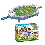 Mini Juego de fútbol de fútbol de Mesa, Mini Juego de Arcade de Mesa de fútbol, Mesa de Juego de futbolín Juguete Interactivo Juego de fútbol de Escritorio en Miniatura para niños Fiesta Familiar