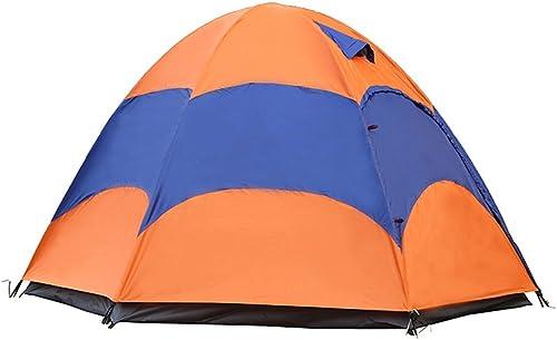 WUPO Tente Extérieure - Double Couche 3-4 Personne Tente De Prougeection Contre La Pluie De Prougeection Contre La Pluie, Adapté pour Le Camping Pique-Nique Pêche Vacances Randonnée